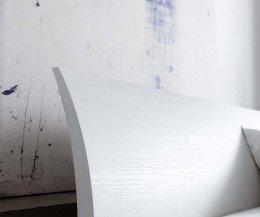 Novamobili Bend Gebogenes Bett Kopfteil in Eiche Weiß