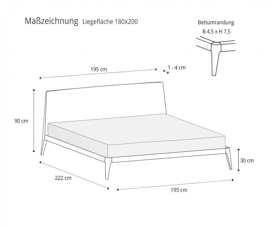 Exklusives Novamobili Design Bett Holz Siri