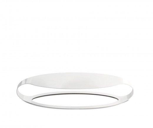 Moderner spHaus Ora L Designer Couchtisch im Wohnzimmer in Weiß und Schwarz
