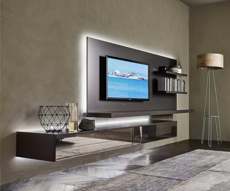 Tv wandpaneel mit led beleuchtung 120 150 180 240 breit - Led wandpaneel ...