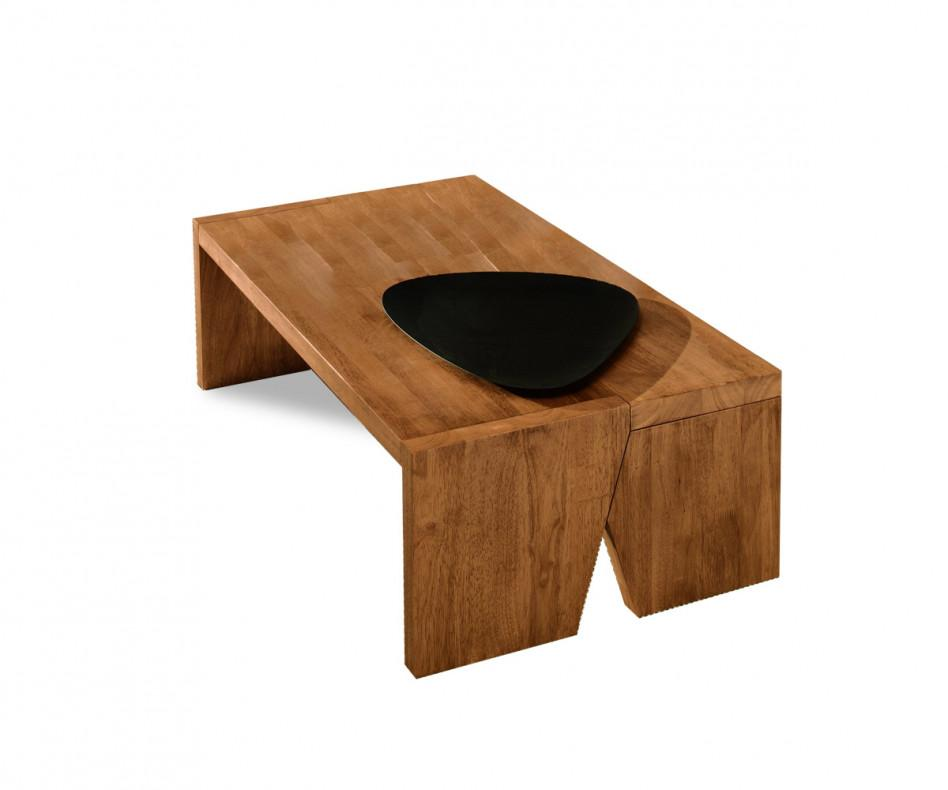 FGF Mobili Sloping Couchtisch Massivholz Parawood