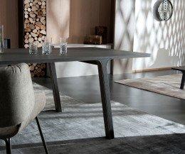 Hochwertiger Design Esstisch al2 mobius Tischplatte mit Eukalyptus Furnier Holz veredelt