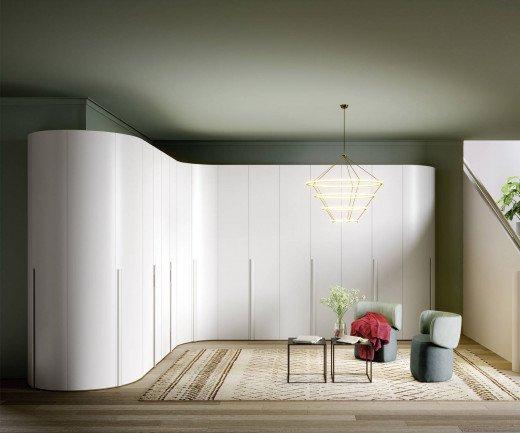 Exklusiver Novamobili Runder Designer Kleiderschrank Alfa Curvo