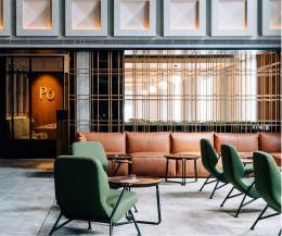 Prostoria Designer Sessel Oblique mit Massivholz Armlehnen