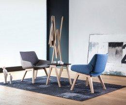 Moderner Prostoria Design Sessel Monk in Grau und Blau