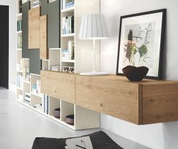 Schwebendes Holz Lowboard