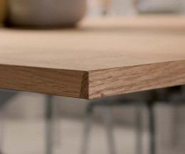 Ozzio Esstisch Alt Eiche Furnier Tischkante