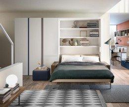 Modernes Clei Penelope 2 Designer Schrankbett mit Sofa 160x200 Liegefläche