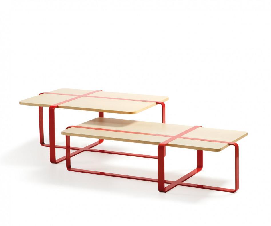 RS Barcelona Sake Tisch Rot Ahorn