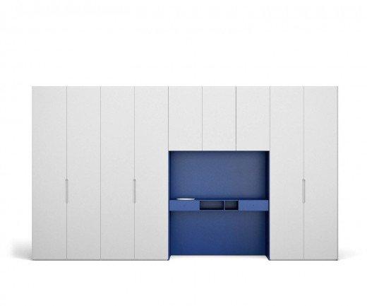 Hochwertiger Novamobili Design Kleiderschrank mit Schreibtisch