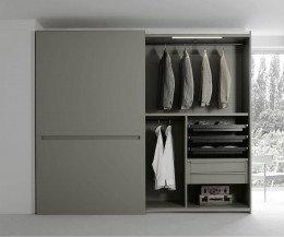 Kleiderschrank Vitro grau matt satiniert