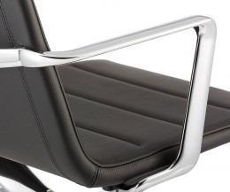 ICF Vela Lounge Buerostuhl Aluminium Chrom Armlehne