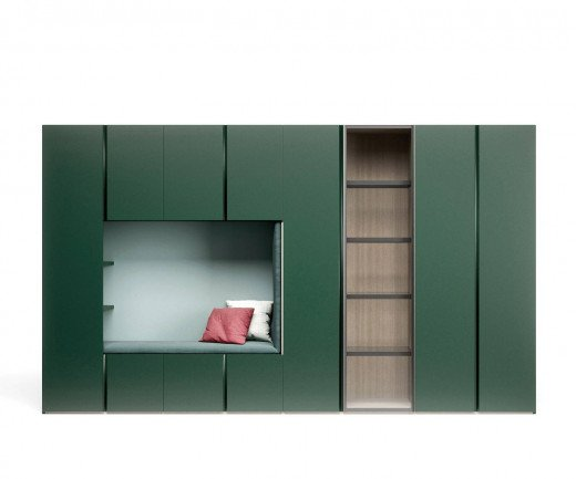 Moderner Novamobili Gola Designer Kleiderschrank mit Sitzbank