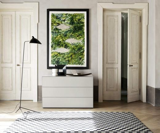 Livitalia Ecletto Design Kommode Weiß Matt