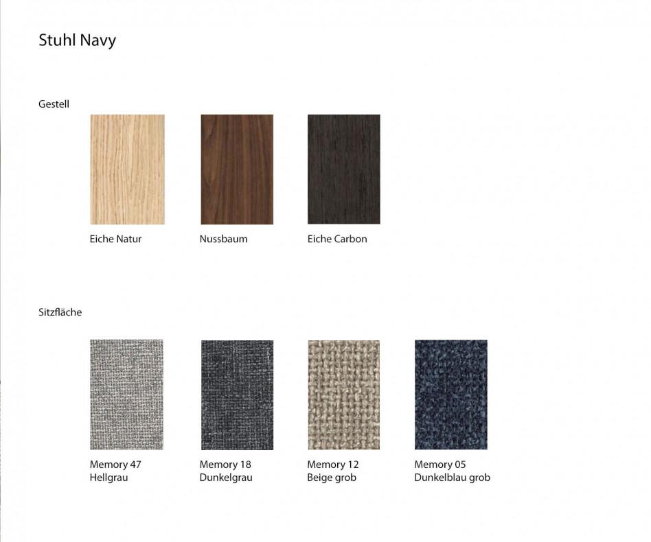 Hochwertiger Novamobili Design Stuhl Navy Esszimmerstuhl