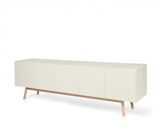 Modernes al2 Design Sideboard in Weiß im Esszimmer mit mos-i-ko Esstisch