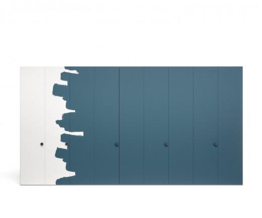 Moderner Novamobili Design Kleiderschrank Intono mit Flügeltüren zum selber streichen