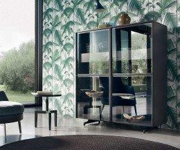 Moderne Livitalia Scrigno Design Glasvitrine transparentes Glas