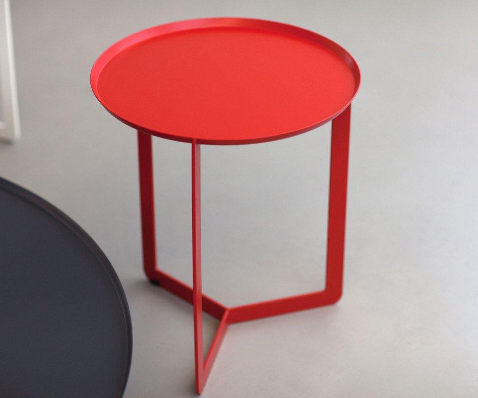 Exklusiver MEME Design Round 1 Beistelltisch in Rot