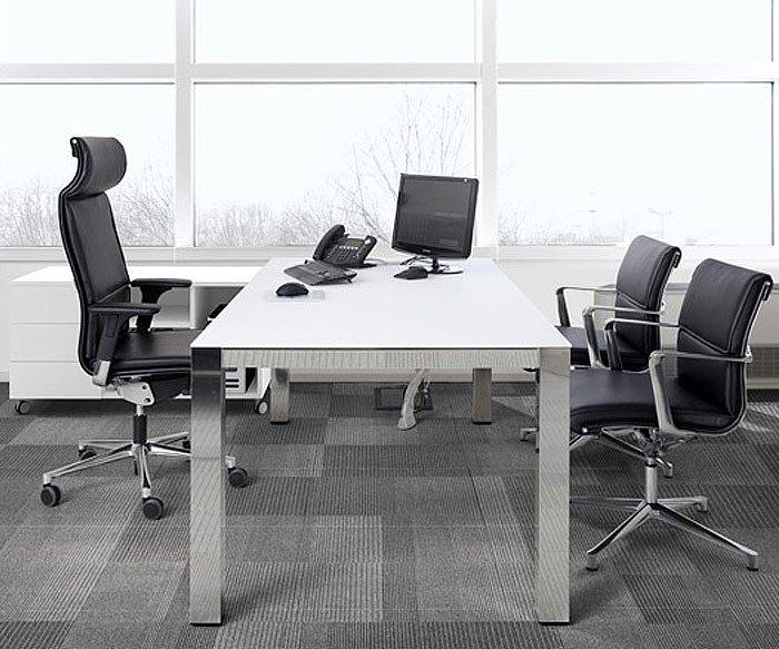 Design Buerotisch ICF P80 Manager mit HPL Tischplatte