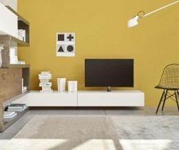 Weißes TV Möbel mit TV Halterung