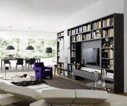 Design Wohnzimmer Bücherregal C54