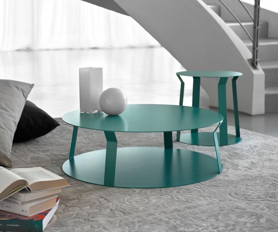 meme design freeline 2 couchtisch aus metall 80 x h25 cm. Black Bedroom Furniture Sets. Home Design Ideas