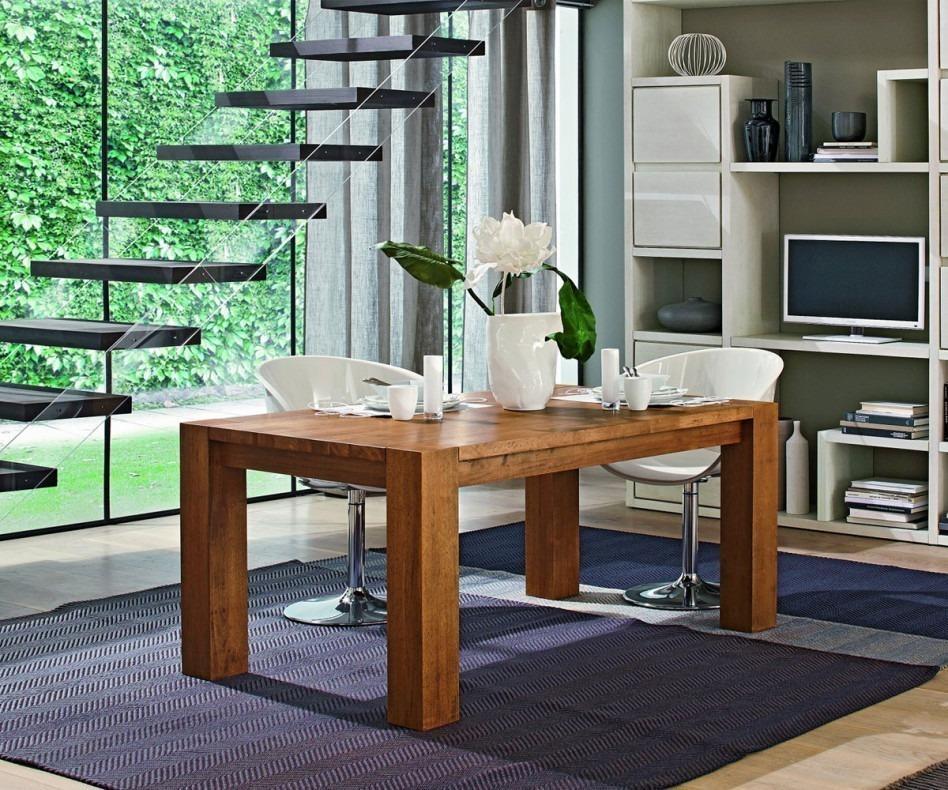 FGF Mobili Square Tisch Massivholz Parawood Eco Friendly Esstisch Holztisch