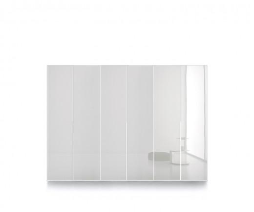 Exklusiver Novamobili Crystal Glastüren Design Kleiderschrank