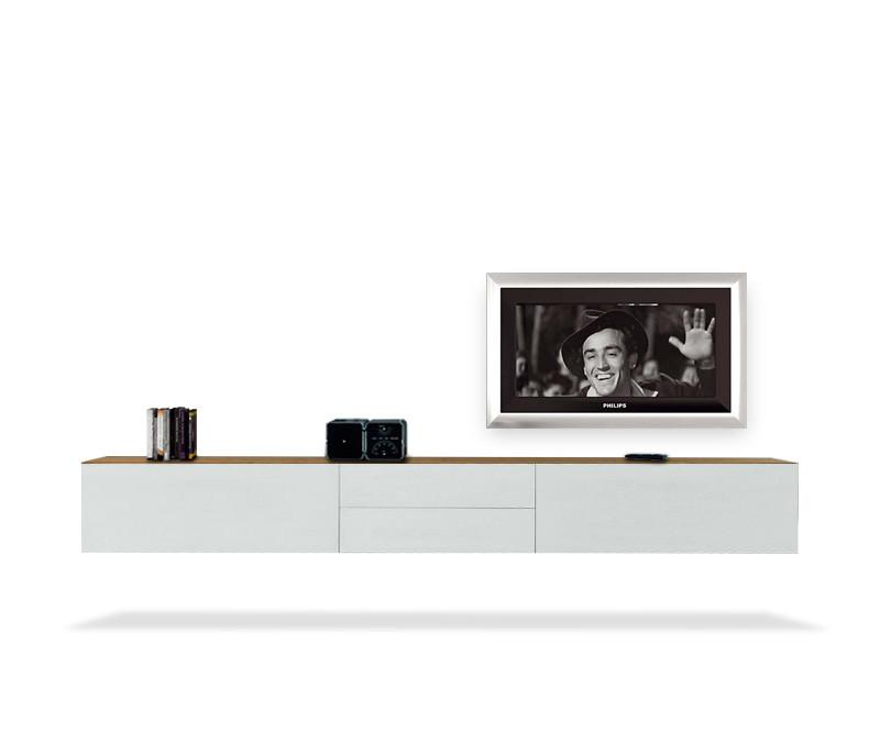 fgf mobili massivholz tv lowboard b300cm 2 schubladen. Black Bedroom Furniture Sets. Home Design Ideas