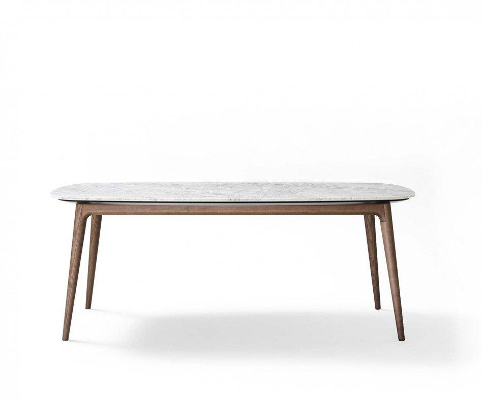 Novamobili Tisch Hanami Massivholz Carrara Tischplatte
