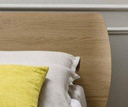 Exklusives Designer Bett Großes Holz Kopfteil Eiche