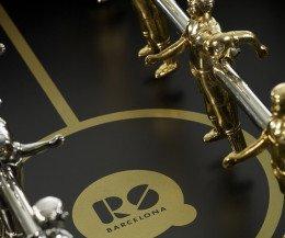 RS Barcelona RS#3 Wood Gold Kicker Spielfeld schwarz gold