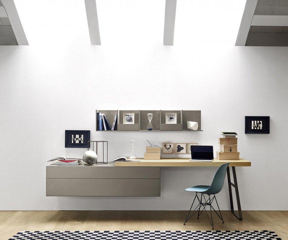 Livitalia Ecletto Wandkommode mit Schreibtisch