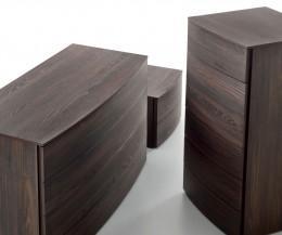 Novamobili Nachttisch & Kommoden Globe Schubladen Ulme Scuro
