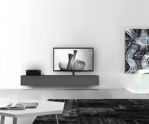 Exklusives Livitalia Design Vesa Lowboard TV Möbel mit TV-Halterung zur Wand Montage
