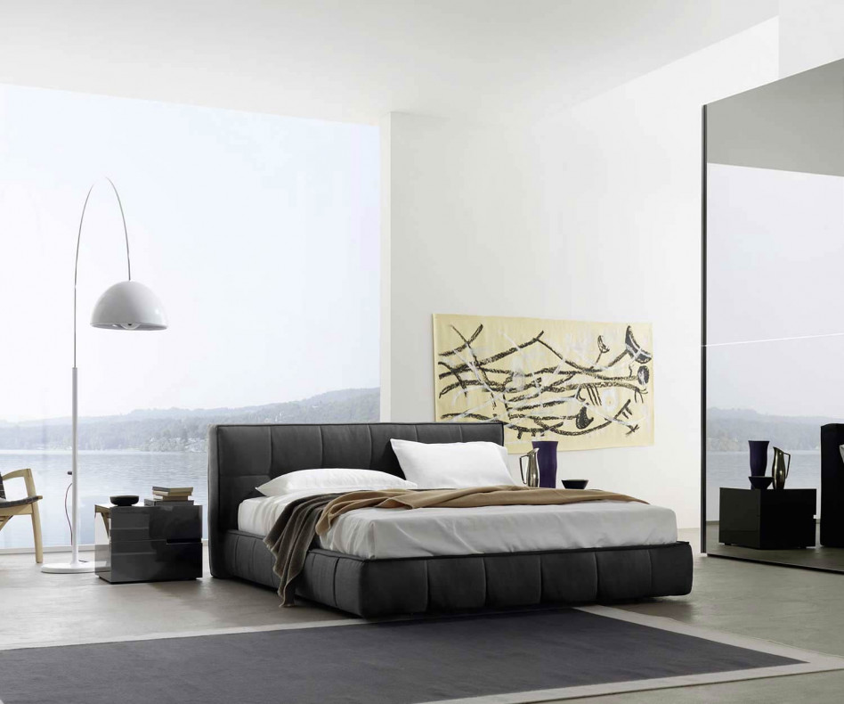 Exklusives Livitalia Design Boxspringbett Softbox Polsterbett im Schlafzimmer