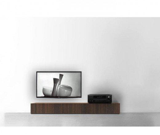 Holz TV Lowboard Boden 180 cm 24 cm 46 cm Eiche braun