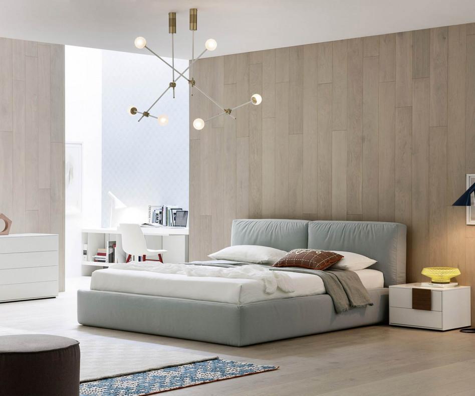 novamobili polsterbett brick in wei schwarz braun hellblau. Black Bedroom Furniture Sets. Home Design Ideas