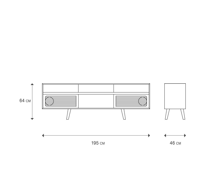Miniforms sideboard skap x for Sideboard zeichnung
