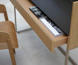 Punt Schreibtisch Stockholm mit großer SChublade