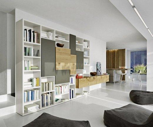 Exklusives Livitalia Design Bücherregal C53