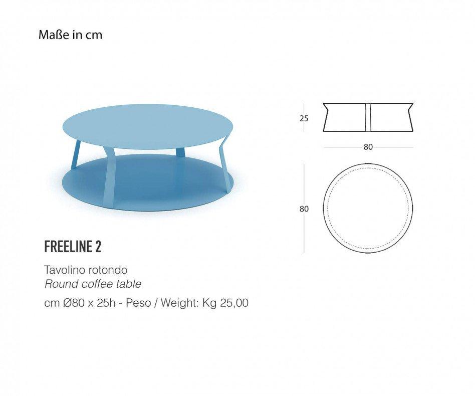 Exklusiver MEME DESIGN Freeline 2 Design Couchtisch in Türkis