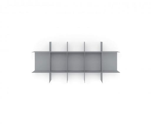 Modul System Bücheregal für die Wand aus Metall