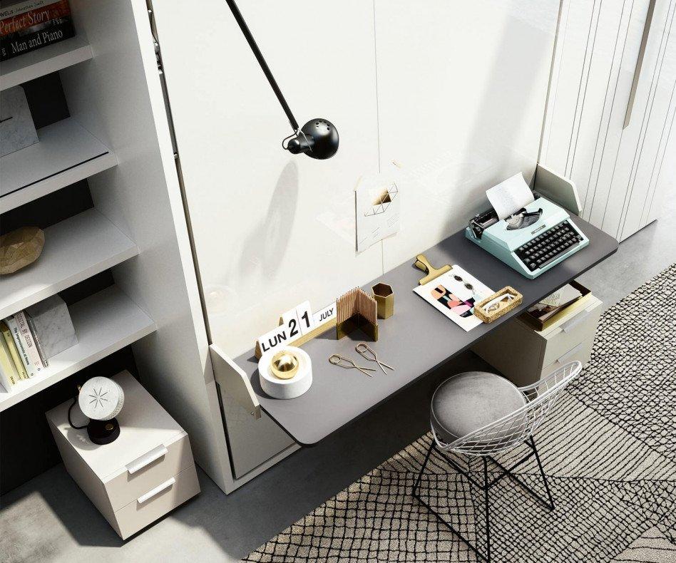 Clei Penelope 2 Board Schrankbett mit Schreibtisch