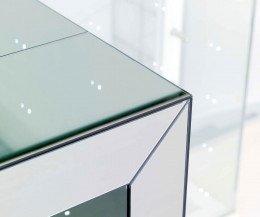 Ozzio Konsole ausziehbarer Esstisch Glass Detail