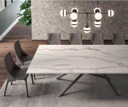 Design Esstisch Marmor Tischplatte ausziehbar