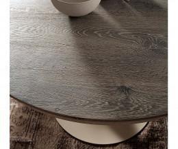 Ozzio Tisch rund Eclipse Echtholzfurnier