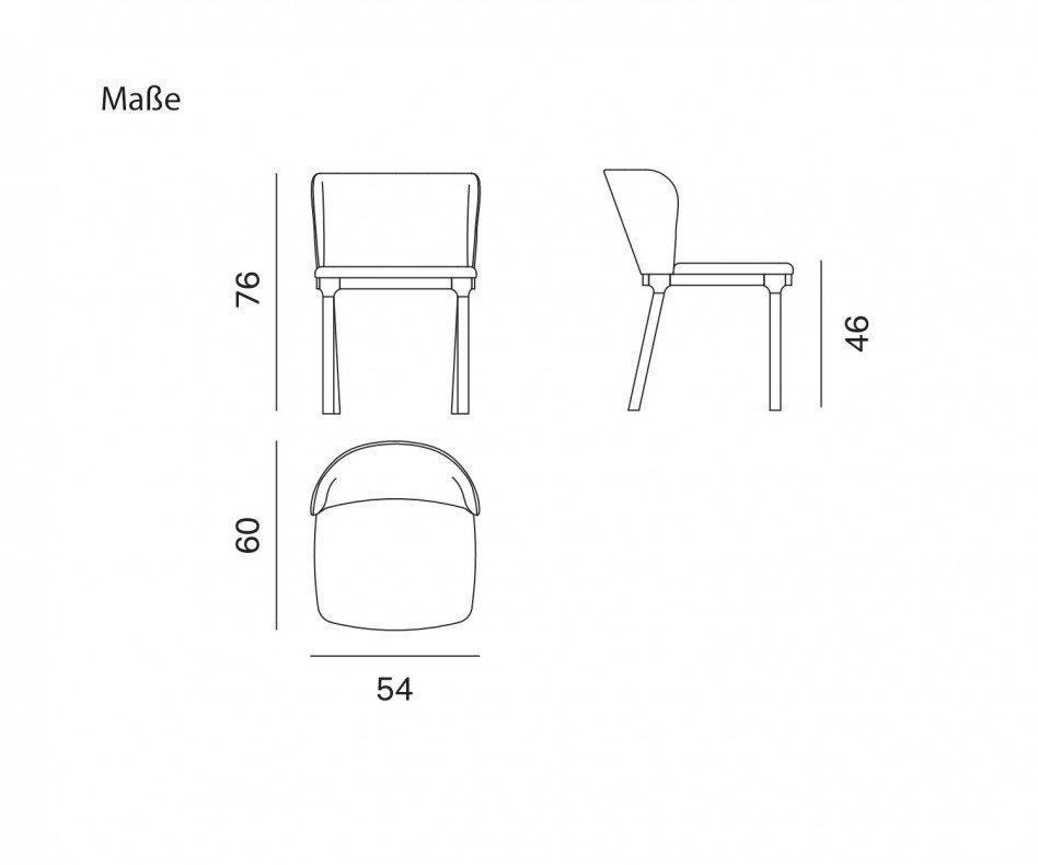 Novamobili Stuhl Navy Esszimmerstuhl