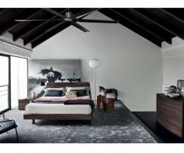 Novamobili Nachttisch & Kommode Globe mit 4 Schubladen Ulme Scuro